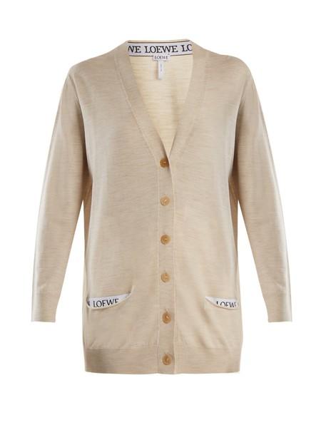 LOEWE cardigan cardigan wool beige sweater