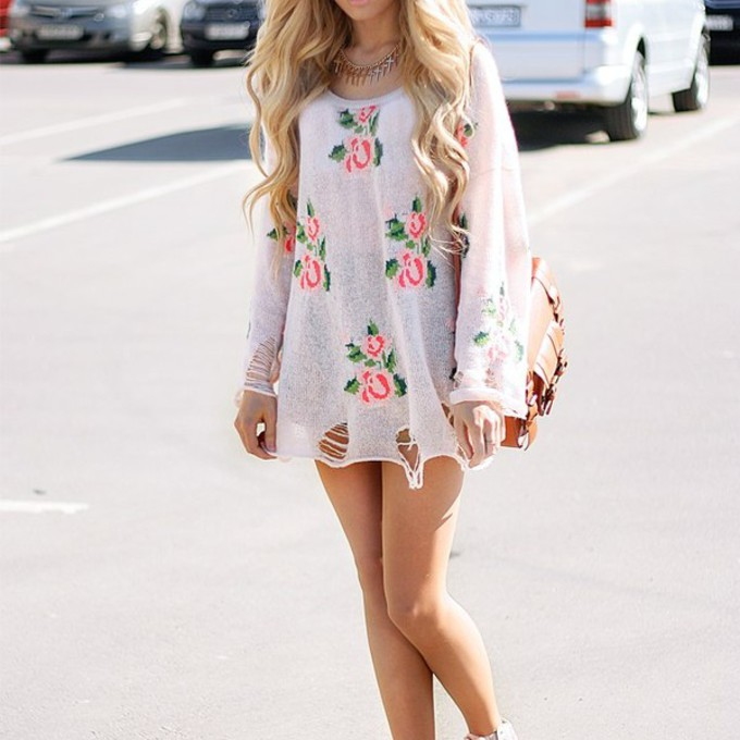 Boho Tunic Dress Dress Short Dress Floral Boho