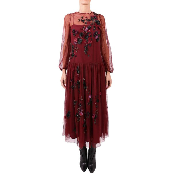 Blugirl dress women burgundy