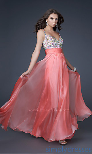 Dress, Gorgeous La Femme Prom Dress - Simply Dresses