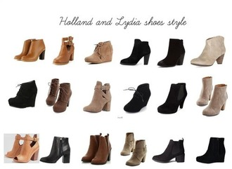 shoes black tanned heels boots