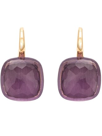 earrings purple pink jewels