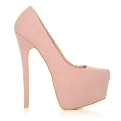 Amazon.com: donna women's faux suede stilleto very high heel baby pink court shoes size 9: shoes