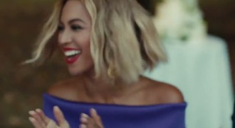 beyoncé jeans zara heaven dress cute blonde hair bob lipstick celebrity beautiful