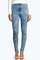 Lara super skinny high waist denim tube jeans