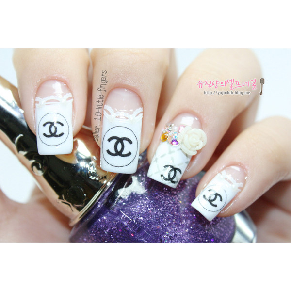 nail polish decoration brand designer logo symbol chanel dior french silver elegant hot stylish rose diy manicure pedicure nail accessories nail art nail art louis vuitton stickers decals nails