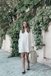 dress,tumblr,white dress,mini dress,lace dress,espadrilles,bag,round tote,tote bag,sunglasses,shoes