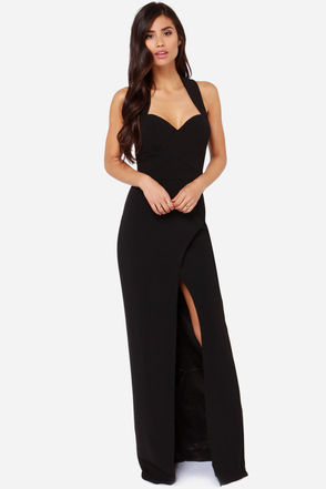 Bariano Katja Black Maxi Dress