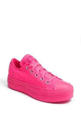 shoes converse pink solid