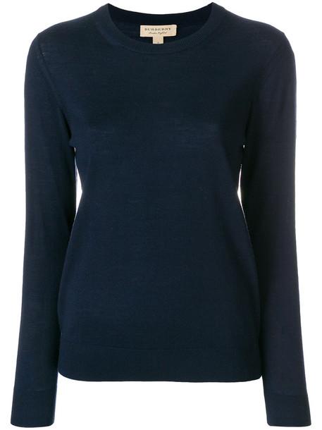 Burberry jumper women blue sweater