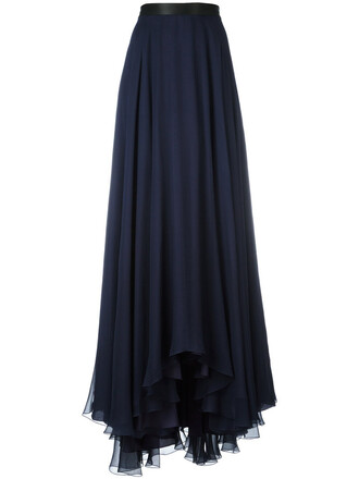 skirt maxi skirt maxi pleated women blue silk