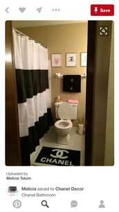 home accessory,bathroom rug,shower curtain,towels,chanel