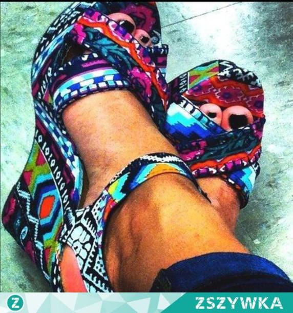 shoes multicolor compens?es summer shoes