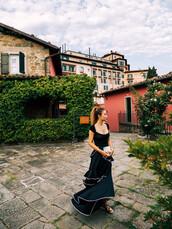 skirt,blogger,maxi skirt,ruffle,top,sandals,black skirt,blogger style