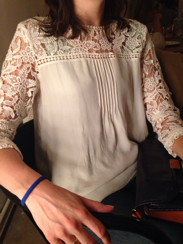 blouse lace white