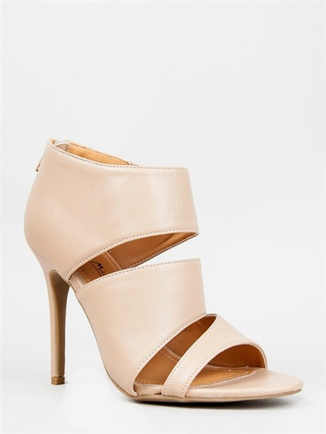 Shoes: heels, bootie, spring, nude, sandals - Wheretoget