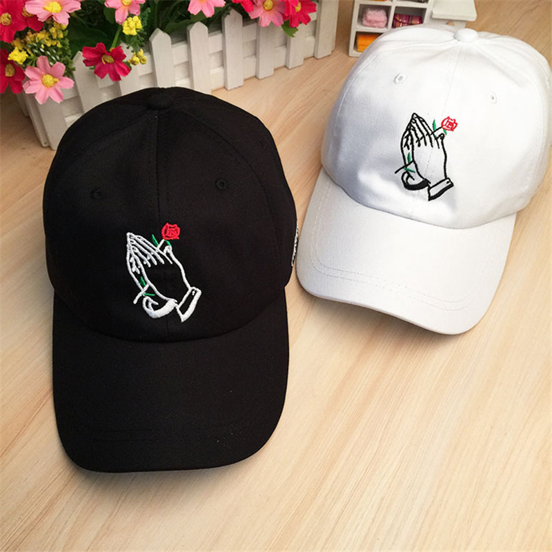Aliexpress.com   Buy Russian The Hundreds Rose Cap Drake 6 God Pray Hand  Embroidery Baseball Caps Gold Owl Yeezus Hat Men Women Gorras Snapback ... 0b8582298ca