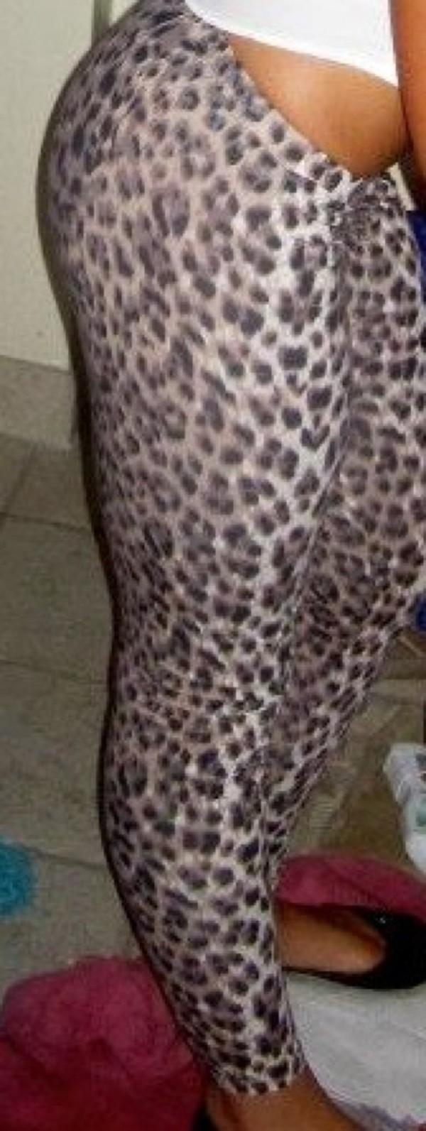 pants tight pants printed pants spandex leopard print