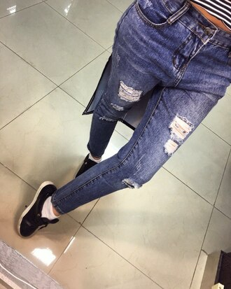 jeans denim ripped jeans black jeans high waisted jeans skinny jeans boyfriend jeans blue jeans white ripped jeans light blue jeans light blue boyfriend jeans boyfriend destroyed boyfriend jeans destroyed skinny jeans destroyed denim streetwear streetstyle street goth