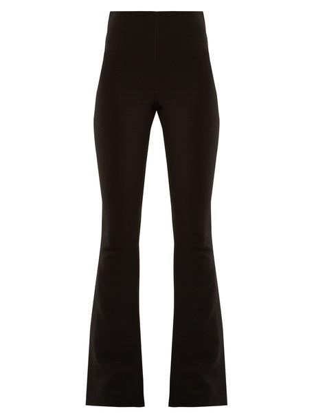 A.W.A.K.E. flare slit black pants