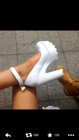 shoes white shoes creepers high heels platform high heels