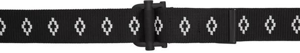 MARCELO BURLON COUNTY OF MILAN belt logo belt white black black and white
