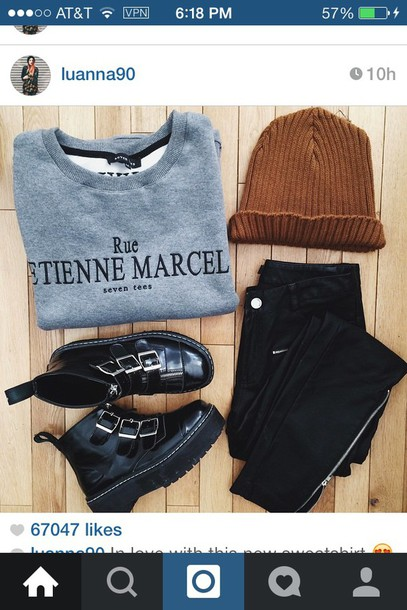 sweater grey grey sweater knitted beanie hat