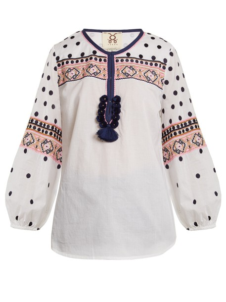 Figue shirt embroidered cotton white top
