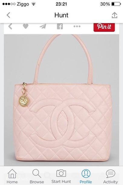 bag chanel pastel pink