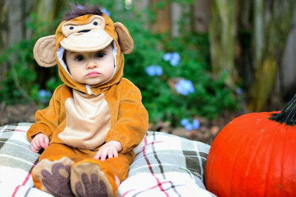 orange book of leisure blogger monkey halloween costume kids fashion jumpsuit
