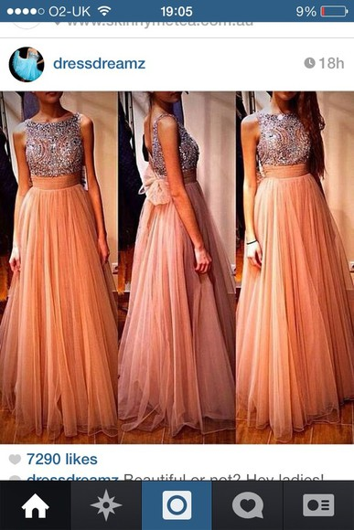 dress prom dress coral dress long prom dresses