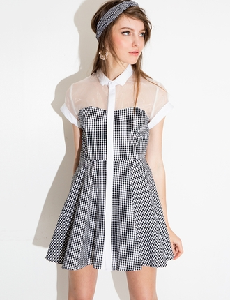 dress pixie market summer dress party dress chic dress spring dress gingham collared dress