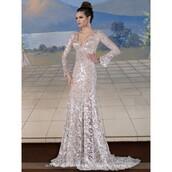 dress,wedding dress,black dress,bela lucia,long sleeves,rachel berry episode 22 season 2