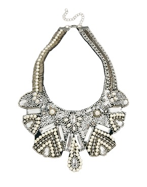 ASOS | ASOS Pearl Bib Necklace at ASOS
