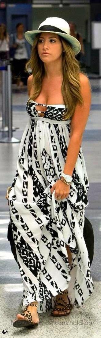 dress maxi dress summer dress patterned dress indie boho boho dress boho chic hippie black and white dress shoes