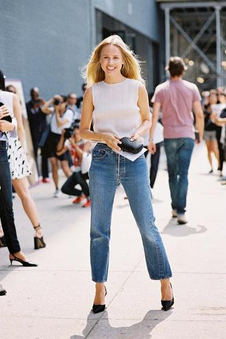 vanessa jackman blogger jeans top jacket shoes