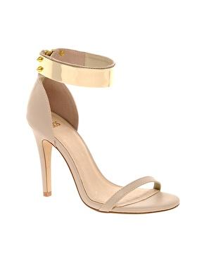Asos hong kong heeled sandals with metal trim at asos