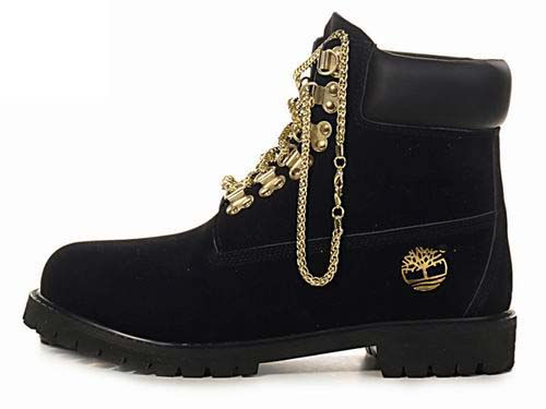 Timberland women's gold chain boots