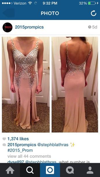 dress pink sparkles prom