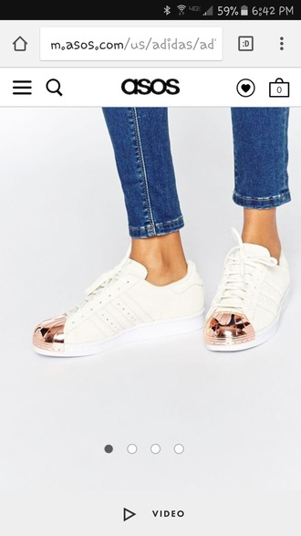 shoes adidas superstars rose gold 80s style adidas metal toes
