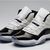 Nike Jordan 11 Concord Sneakers : Dark Black and White For Women