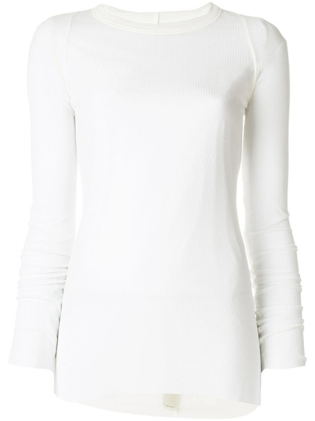 Rick Owens top sheer top sheer women white silk