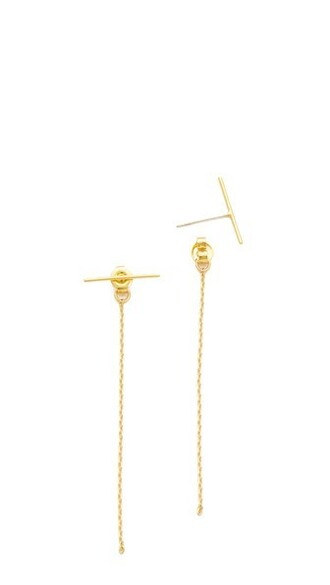 back short earrings gold jewels