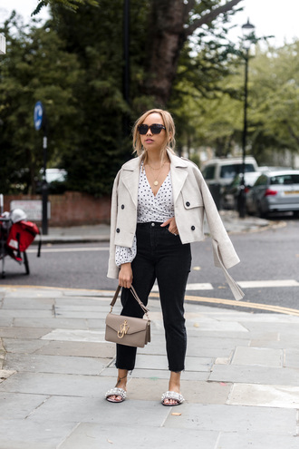 a style diary blogger top jeans jacket shoes bag jewels