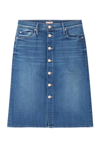 skirt jean skirt high waisted high blue