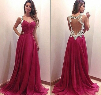 dress wine lace prom beautiful prom dress long prom dress