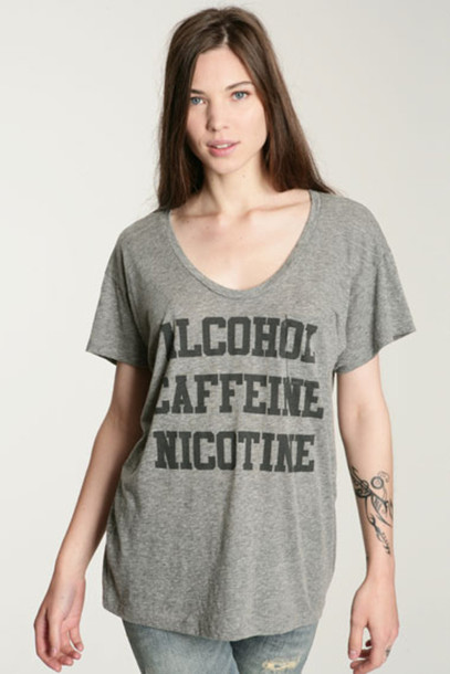 urban outfitters grey grey t-shirt t-shirt