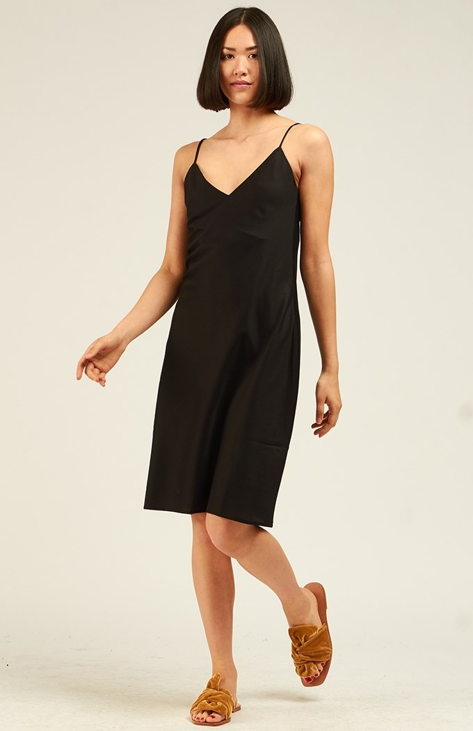 Ada Slip Dress - Black