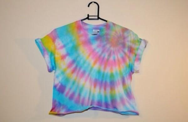 shirt tie dye t-shirt fashion