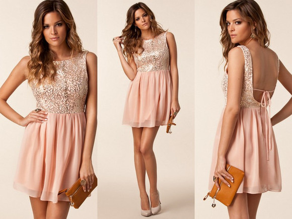 dress glitter dress cute dress beige dress short party dresses